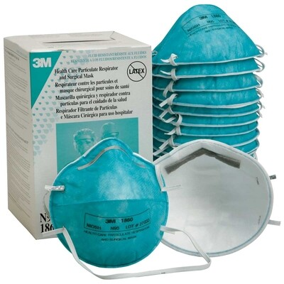 3M 1860 N95 Medical Particulate Healthcare Respirator Wholesale, MOQ 10,000 pc