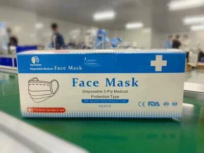 Da Sheng Tong Disposable Medical Mask, 50 pc / box, MOQ 10,000