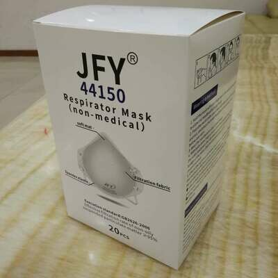 Jinfuyu (JFY) Niosh N95 Respirator, model 44150, 20pc