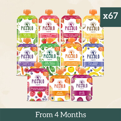 67x Dairy Free Fruit & Veg Pouches from 4 Months