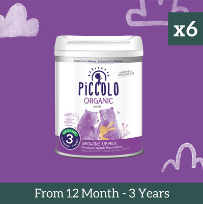 Piccolo Organic Growing Up Formula From 11th Month to 3 years - Pack of 6