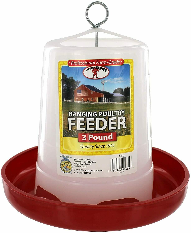 3 pound hanging feeder.