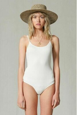 White Ribbed Body Suit
