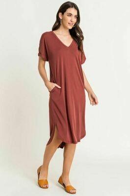 Cupro VNeck Dress