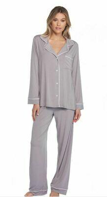 Luxe Milk Jersey Piped Pajamas