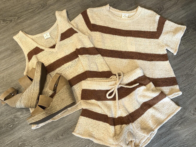 Sweater Stripe Shorts