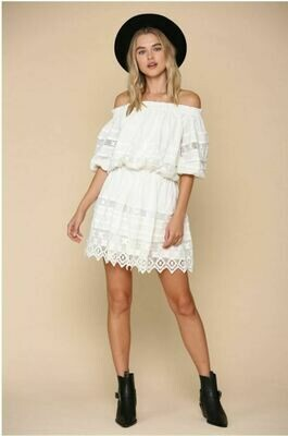 Off Shoulder Jacquard