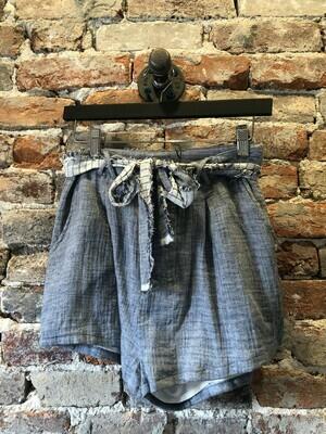Denim Paper Shorts