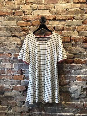 Bell Sleeve Stripe Dress