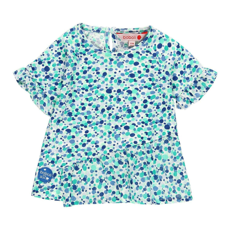 Camiseta punto combinada de bebé niña  BOBOLI