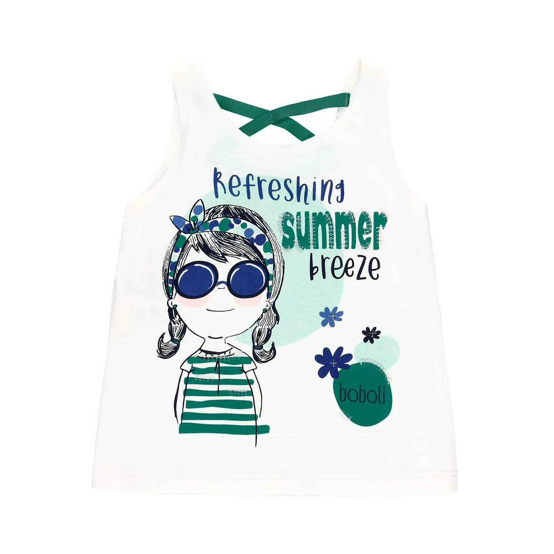 Camiseta punto liso de bebé niña  BOBOLI