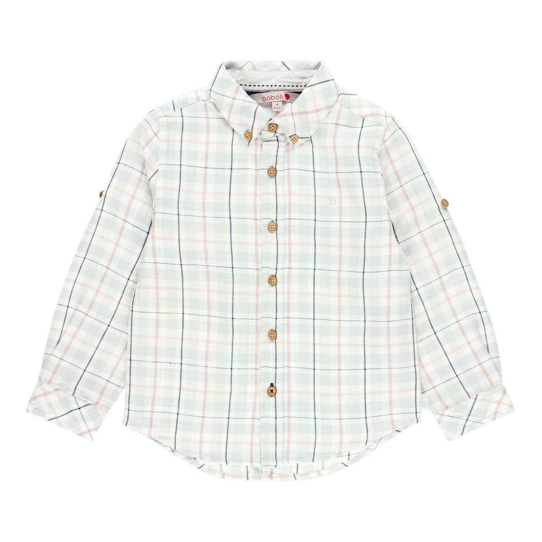 Camisa lino manga larga de niño  BOBOLI
