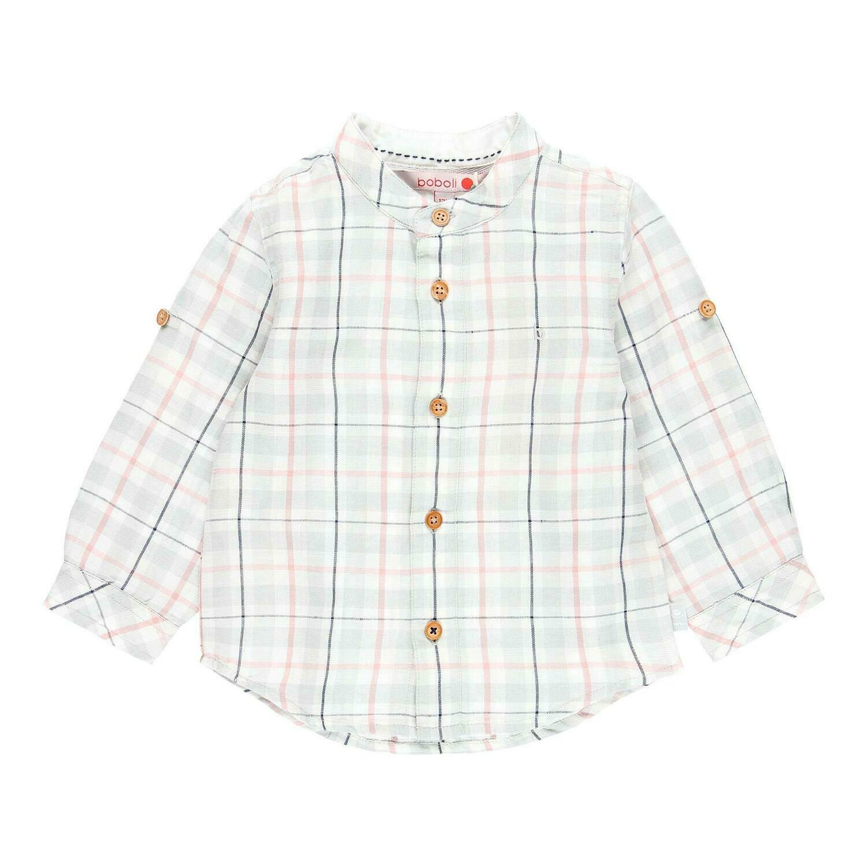 Camisa lino manga larga de bebé niño  BOBOLI