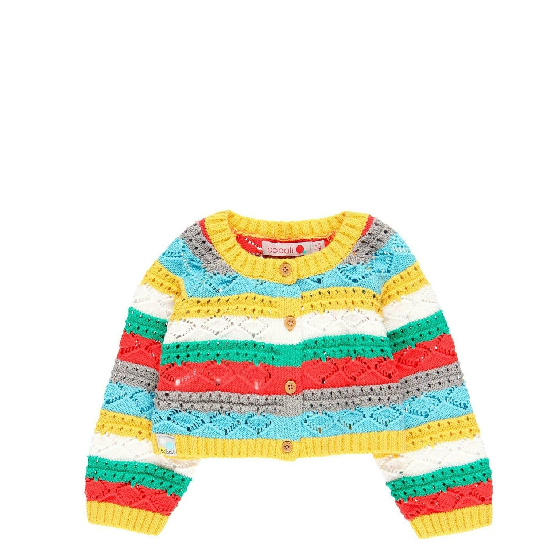 Chaqueta tricotosa de bebé niña  BOBOLI