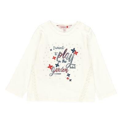 Camiseta punto flamé de bebé niña  BOBOLI