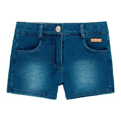 Short felpa denim de niña  BOBOLI