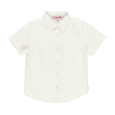 Camisa lino manga corta de niño  BOBOLI
