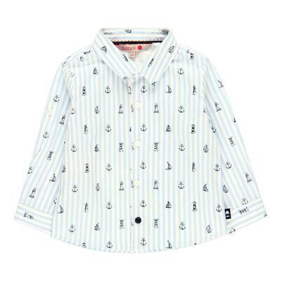Camisa popelín de bebé niño  BOBOLI