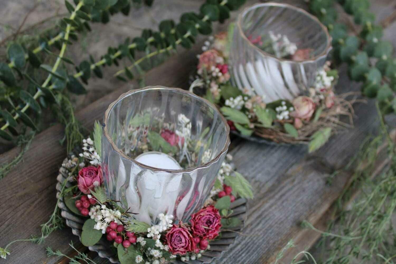 Teelicht auf Teller