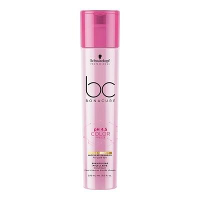 BC pH 4.5 Color Freeze Gold Shimmer Micellar Shampoo