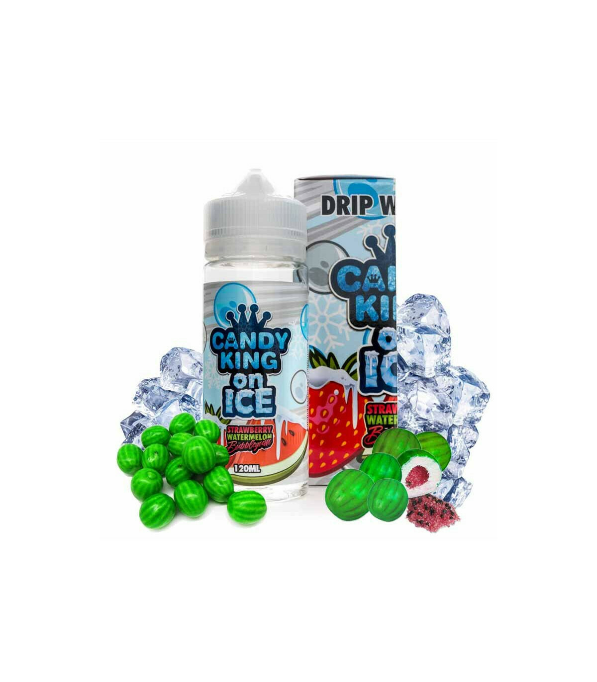 Candy King Strawberry Watermelon Bubblegum On Ice  0nic