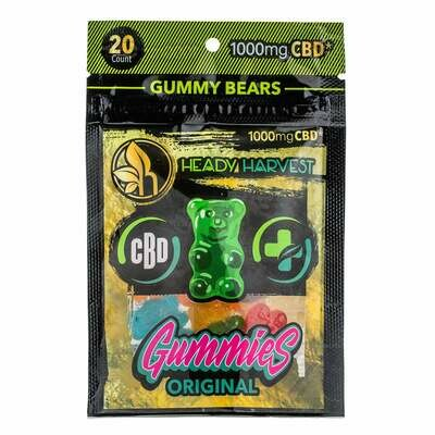 Heady Harvest Gummies 1000mg (50mg each) Thc Free