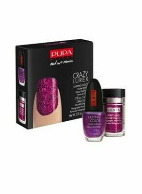 PUPA NAIL ART MANIA PARTY QUEEN NO. 4 FUCHSIA PAILLETTES