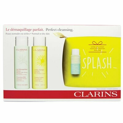 CLARINS SET CLEANS. MILK & TONING LOTION ND & INS. REMOVER