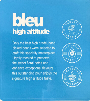 NOW AVAILABLE bleu high altitude