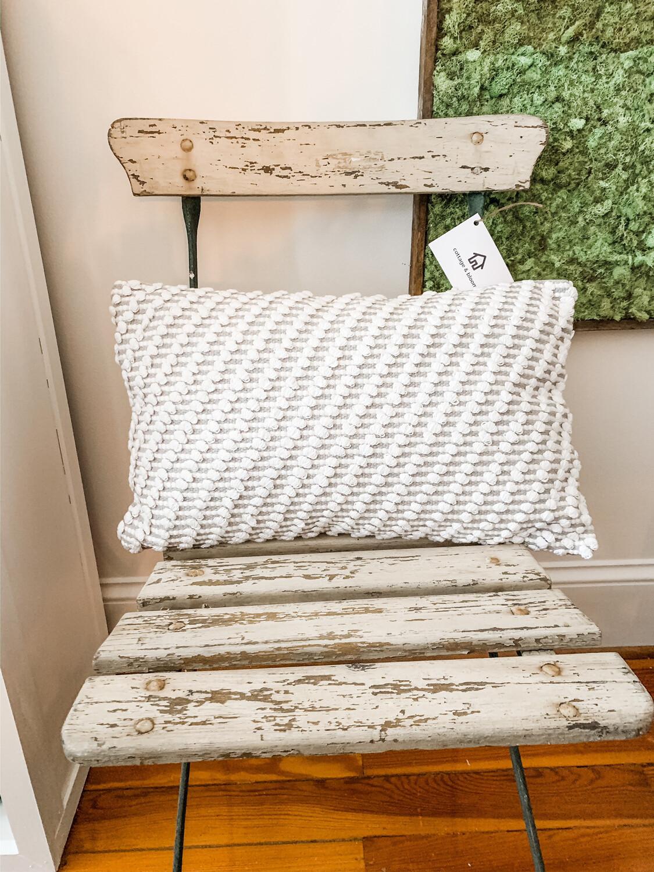 Grey Durrie Pillow
