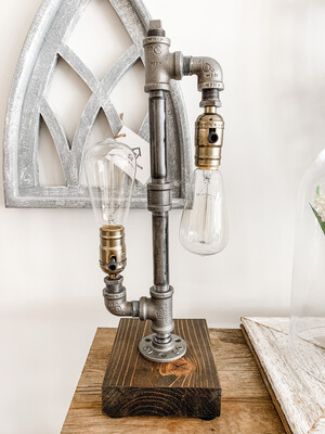 2 Bulb Industrial Lamp