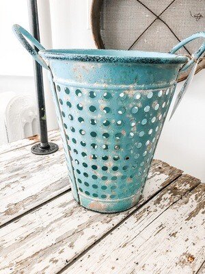 French Blue Pail Large
