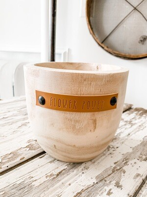 Flower Power Wood Planter