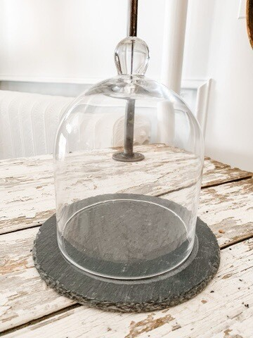 Small Bell Jar With Slate Base