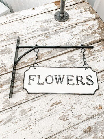 Flowers Hanging Sign