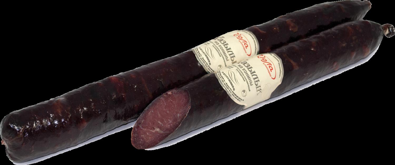 Казылык, колбаса полусухая, примерный вес батона 400 г, вакуумная упаковка