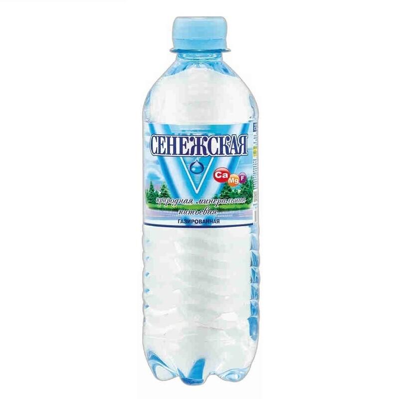 Вода Сенежская с газом 0,5