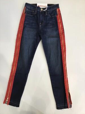 Full side zipper skinny jean