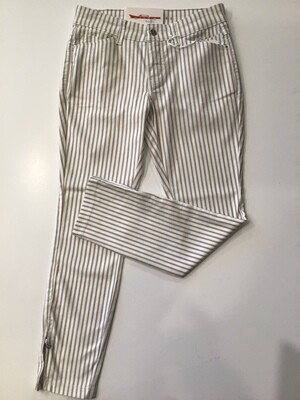 Stripe zip leg jean