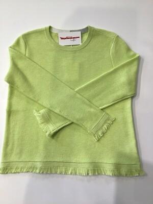 Cotton fringe trim sweater
