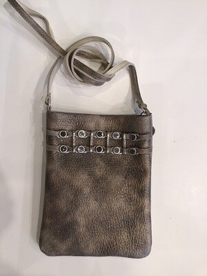 Jewel Ladder Hammered Leather Pouch