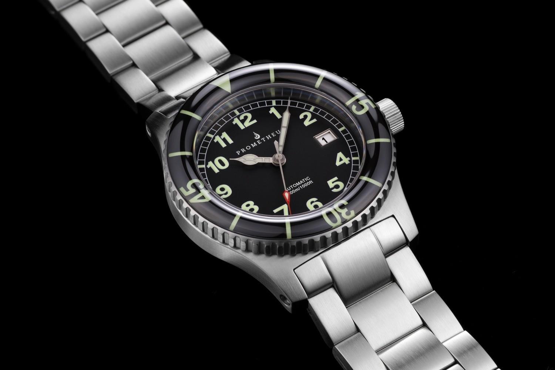 Prometheus Sailfish 300m Automatic Diver Watch Black Dial Sapphire Bezel