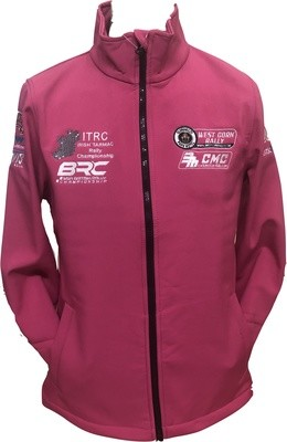 West Cork International Rally Ladies Soft Shell PINK