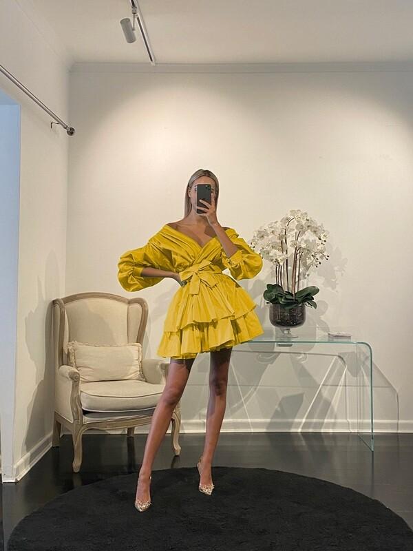 Chloe Dress Jaune