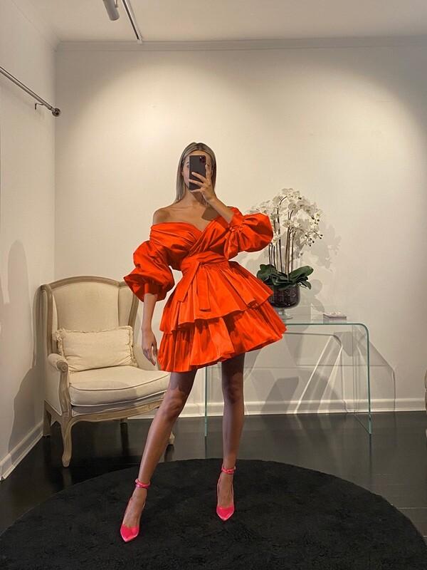Chloe Dress Orange