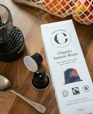 CRU KAFE Organic Intense Roast Capsules