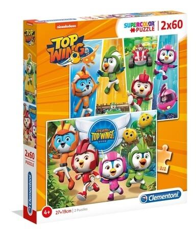 PUZZLE Super 2x60PCS TOP WING - CLEMENTONI