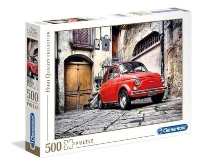 PUZZLE 500 HQ CAR Fiat 500 - CLEMENTONI