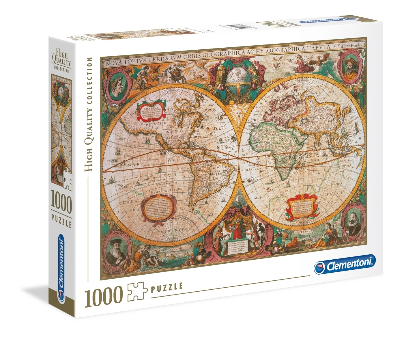 PUZZLE 1000 HQ OLD MAP - CLEMENTONI