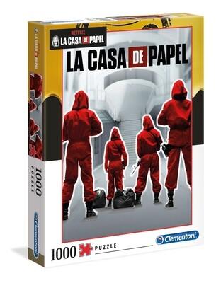 PUZZLE 1000PCS La Casa de Papel - Equipo - CLEMENTONI